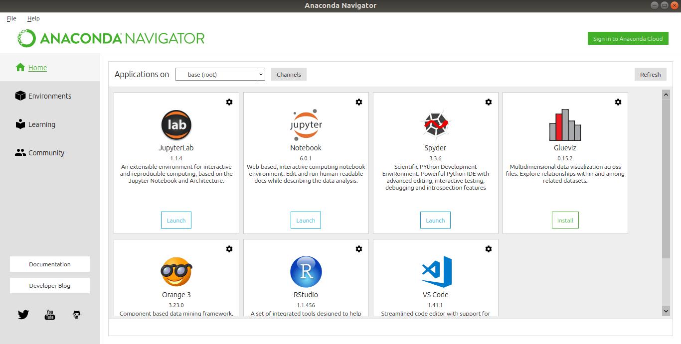 Anaconda Navigator interface