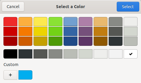 Choose custom color to your folders