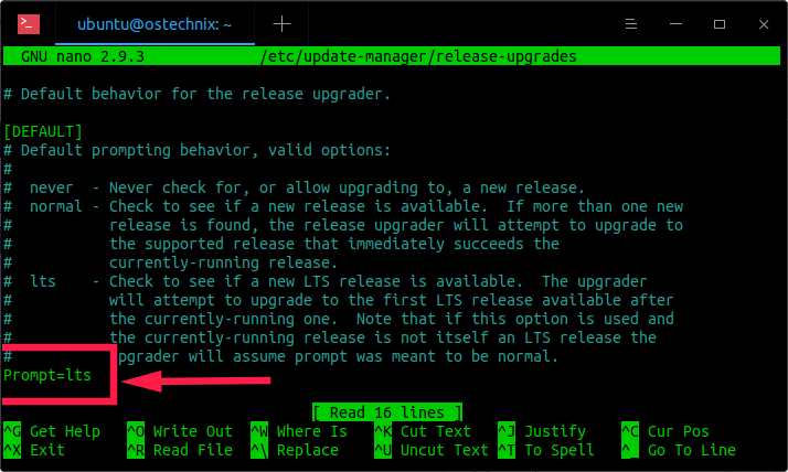 Default behavior for the Ubuntu release upgrader