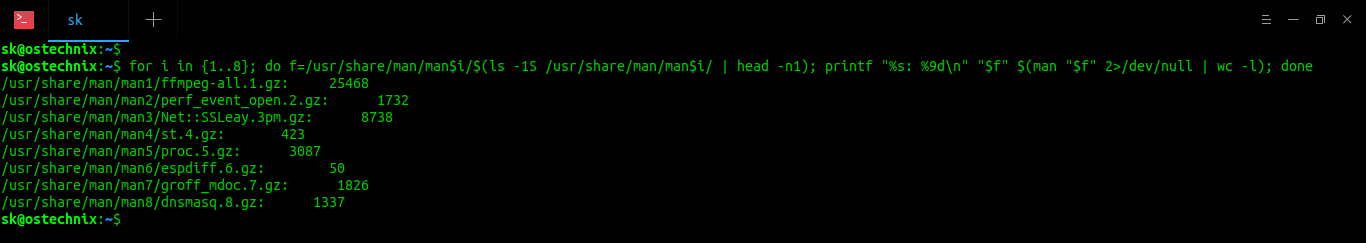 Find Longest Man Page In Linux And Unix