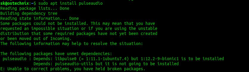Fix libpulse dependency error and reinstall Pulseaudio In Ubuntu