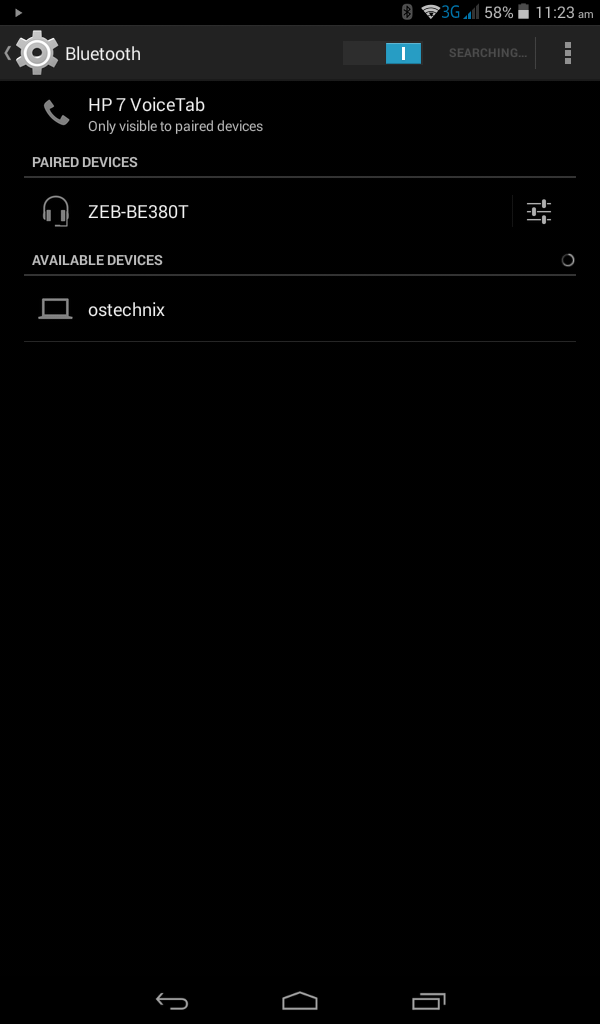 Switch on Bluetooth in Android Phone
