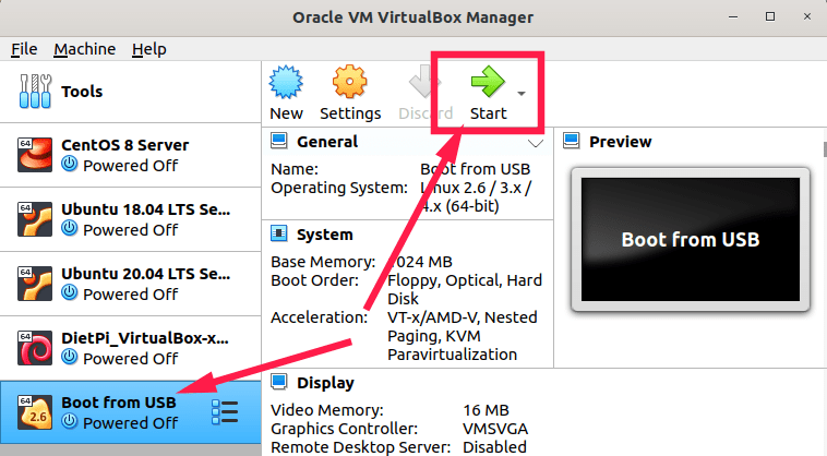 Boot from USB drive in Virtualbox