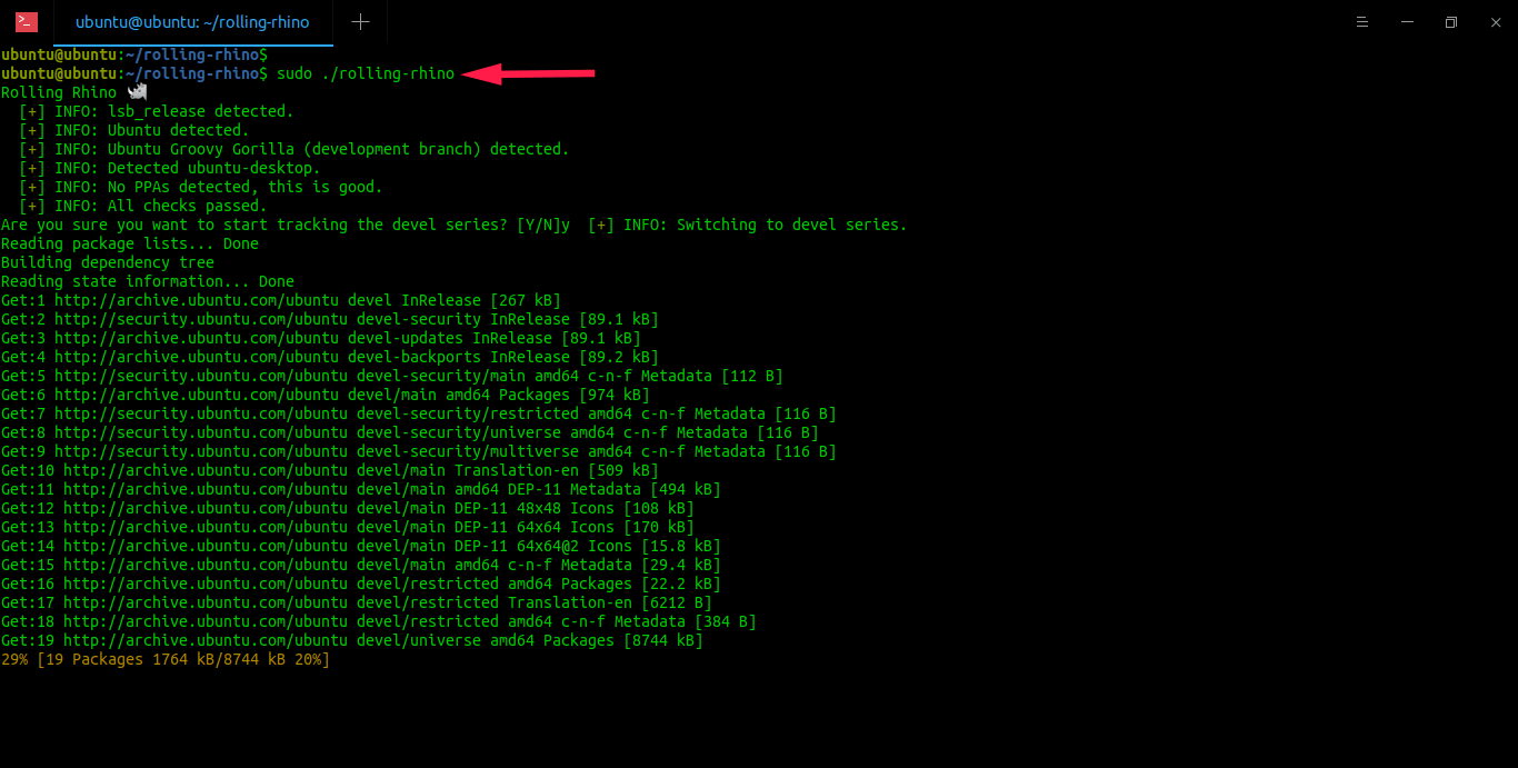 Convert Ubuntu into rolling release distribution using Rolling Rhino