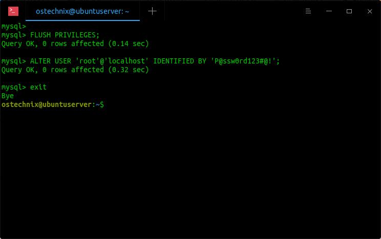 Reset MySQL Root User Password In Linux