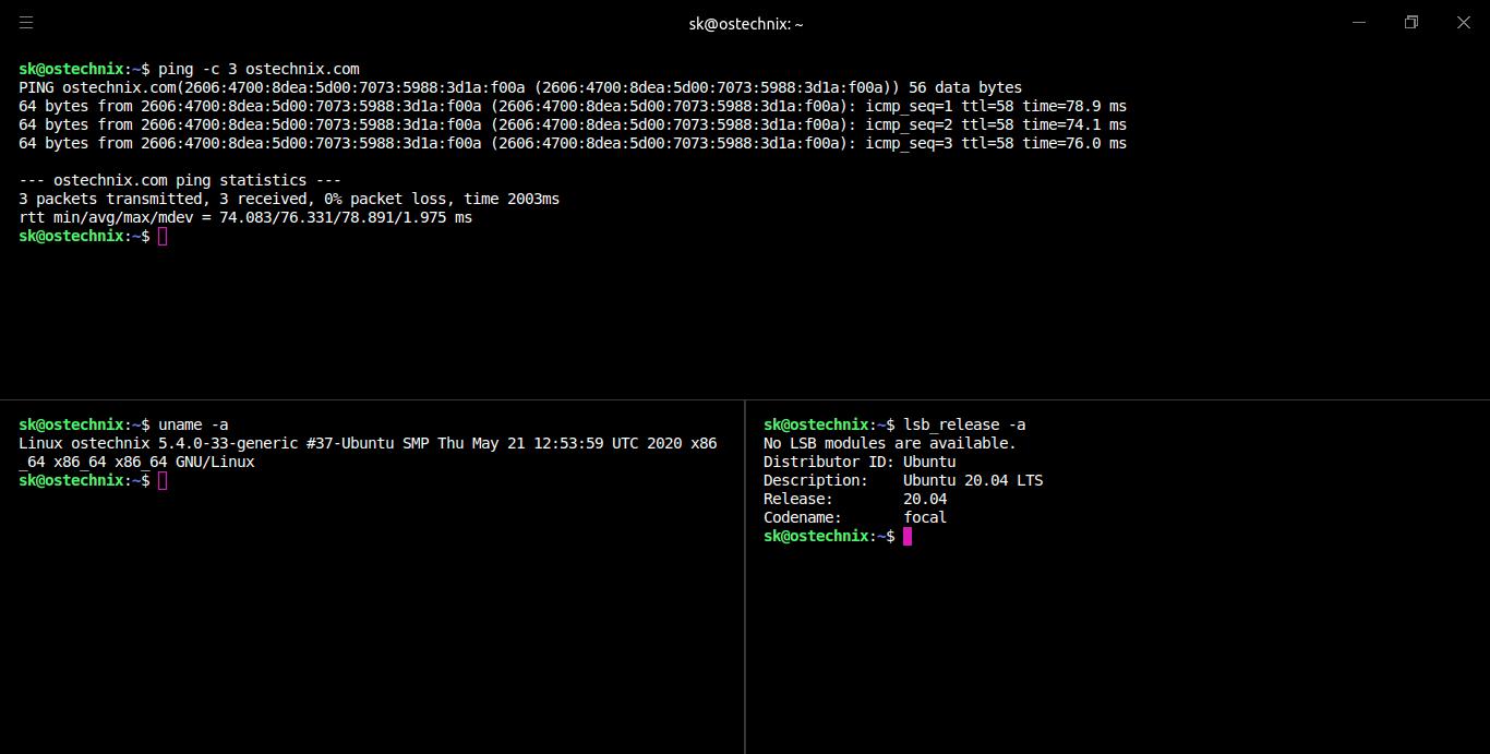 Split Hyper Terminal
