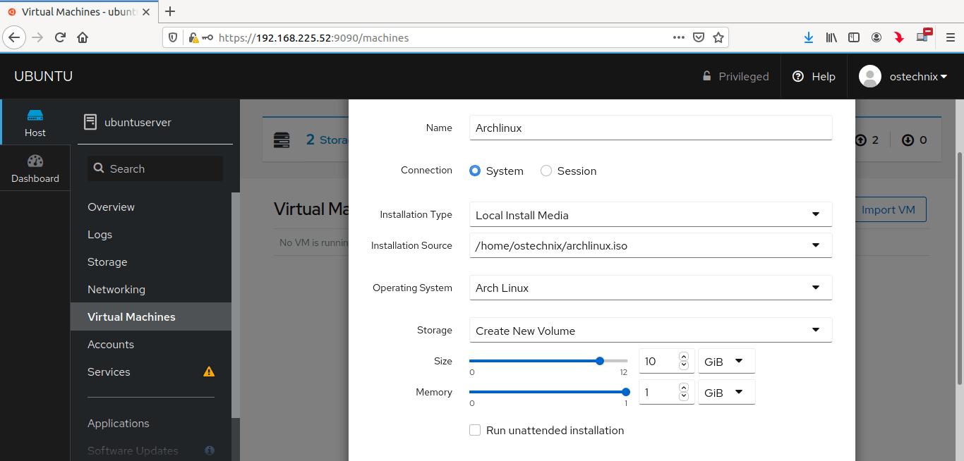 Enter virtual machine details