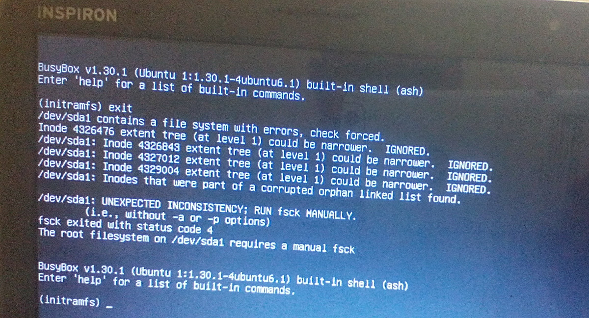 Busybox Initramfs Error On Ubuntu