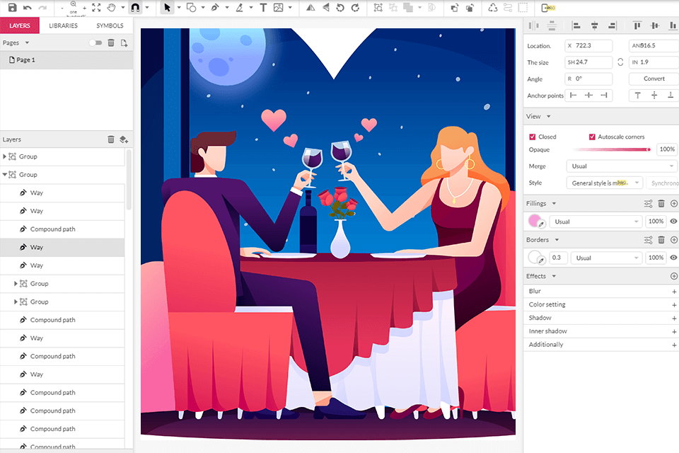 Gravit Designer full-featured vector graphic design app