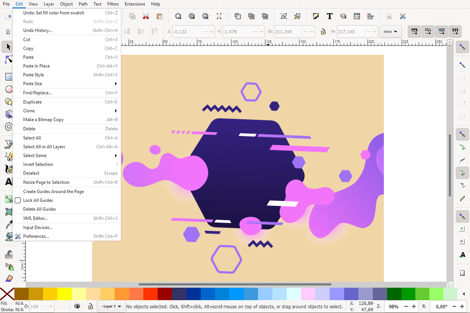 Inkscape free and open-source vector graphics editor