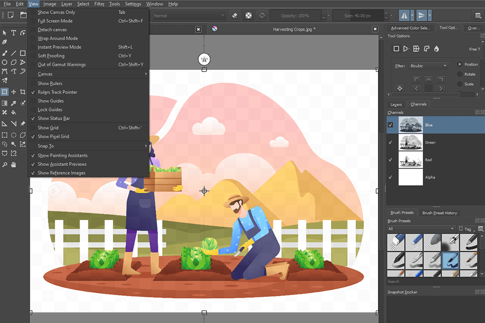 Krita open source painting program