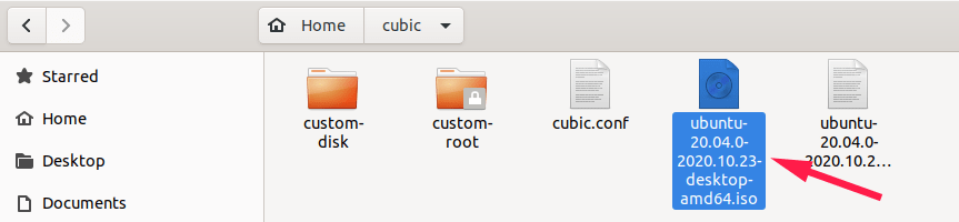 Contents of Cubic project directory