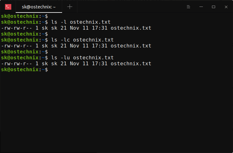 View Linux file timestamps with ls command