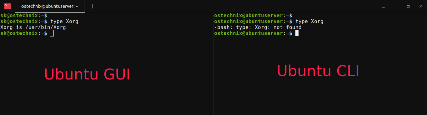 Find If GUI Is Installed In Linux From Commandline