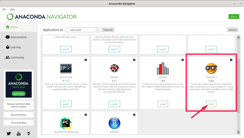Install an IDE from Anaconda Navigator