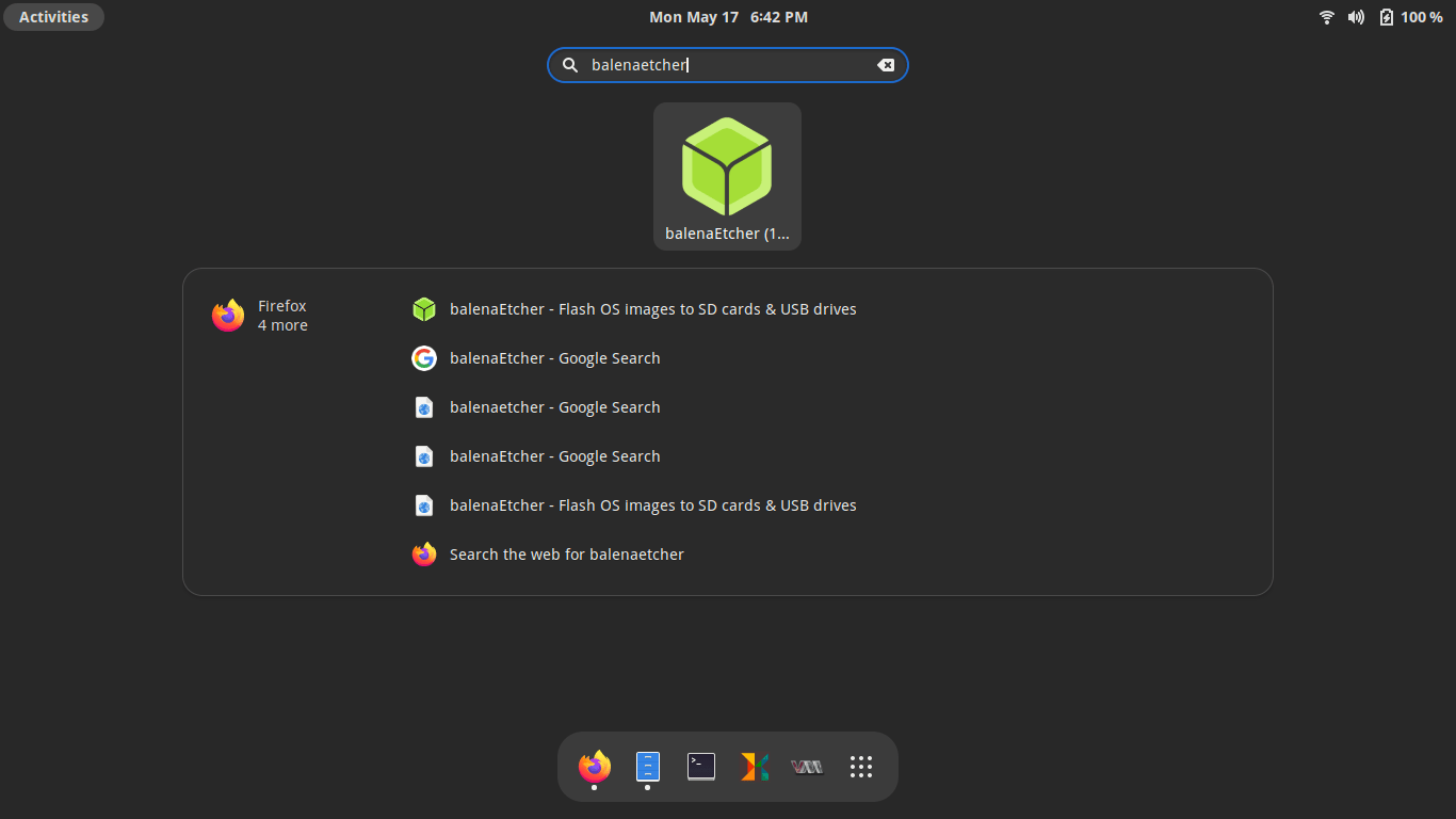 Launch application from Application menu in Gnome desktop