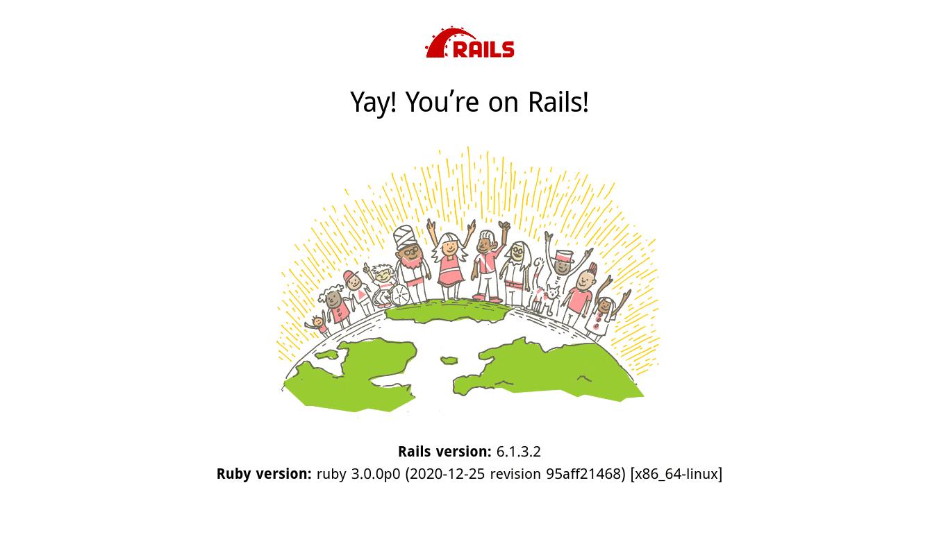 Rails default information page