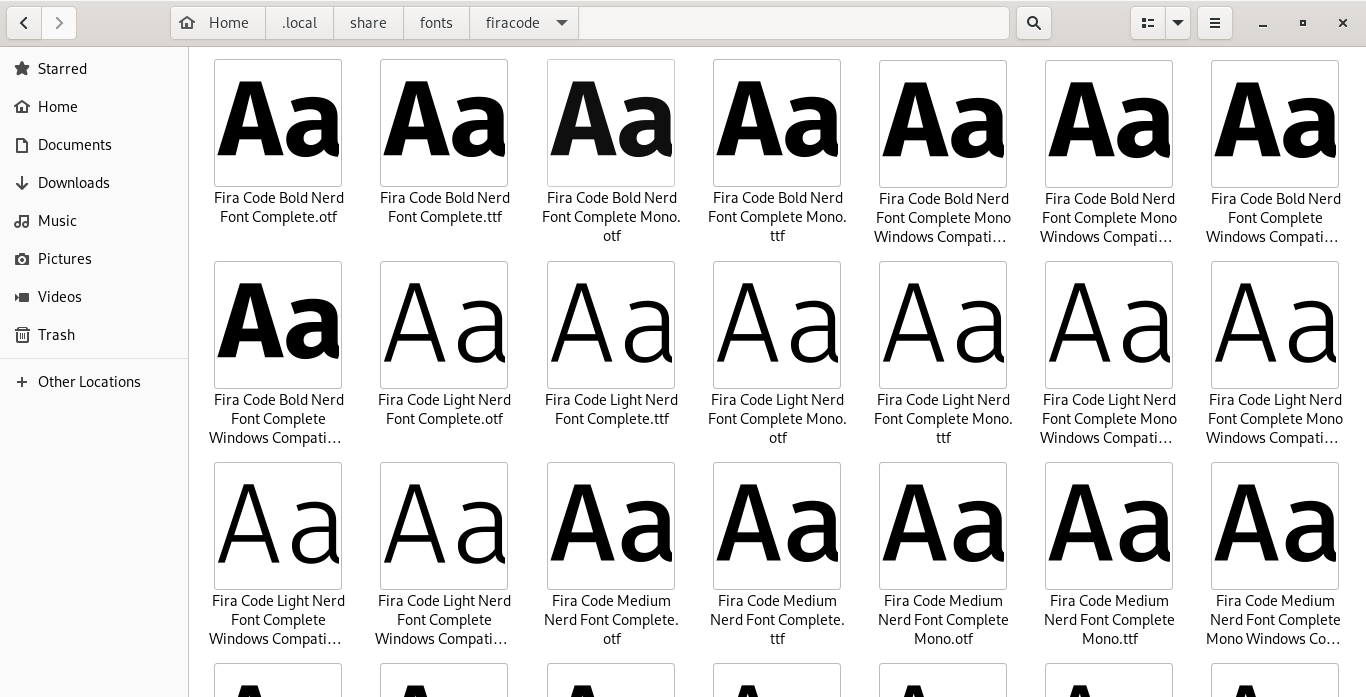 Add fonts in Fedora Linux