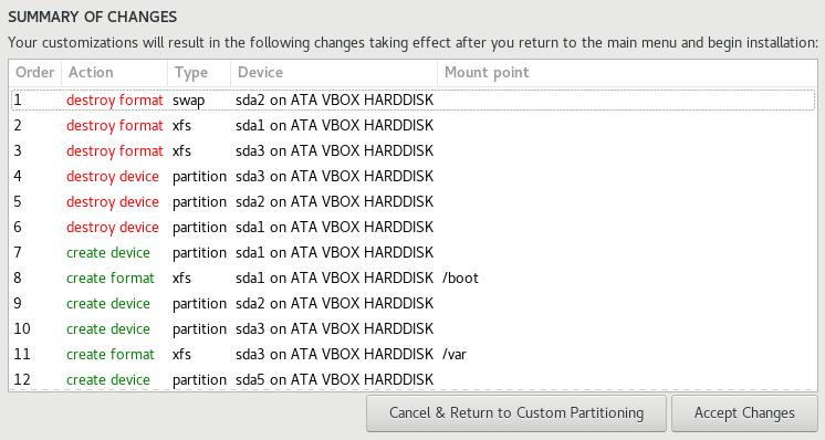 Accept partition changes