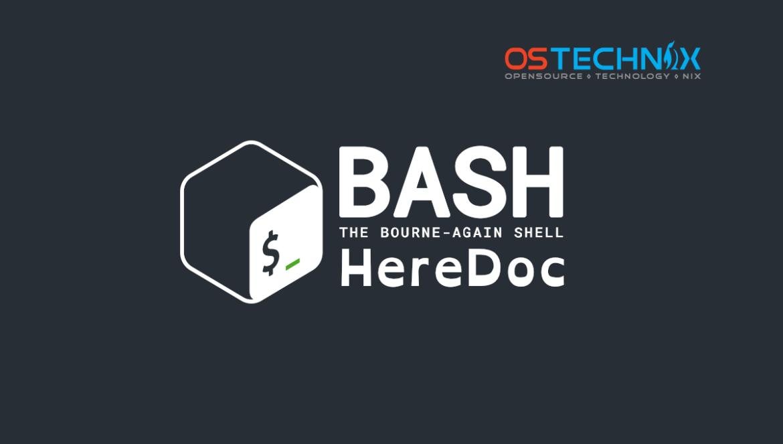 Bash Heredoc Tutorial For Beginners