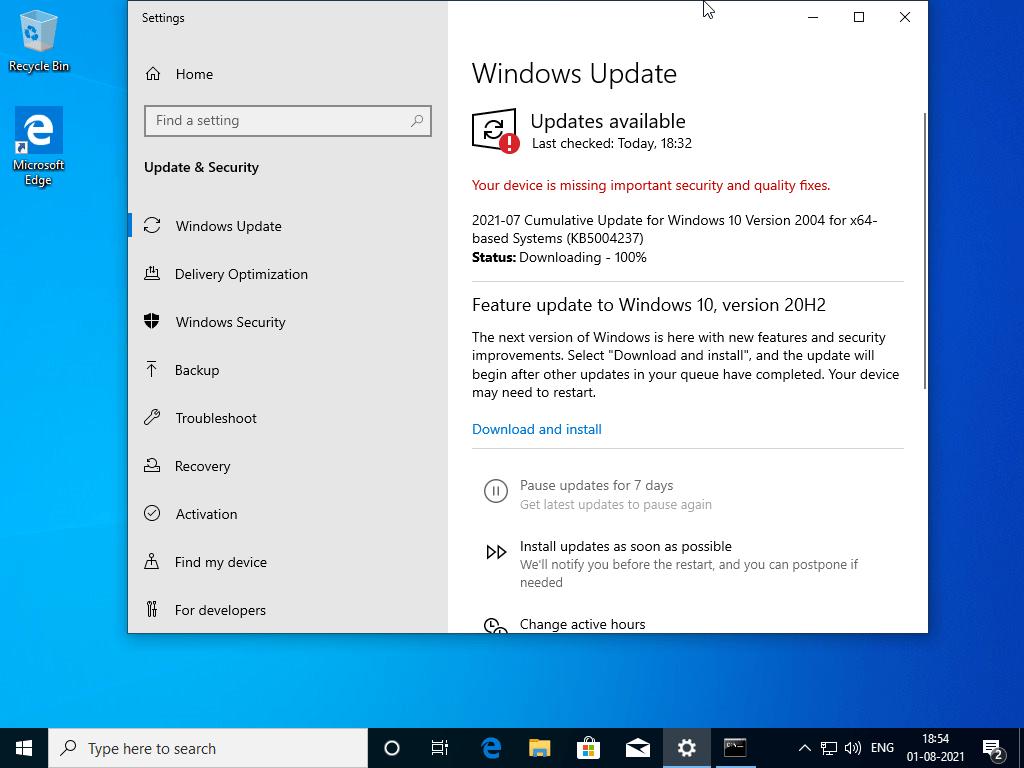 Actualizar el sistema operativo Windows