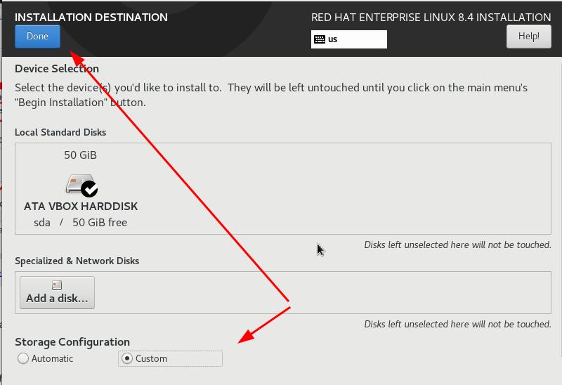 Custom partition