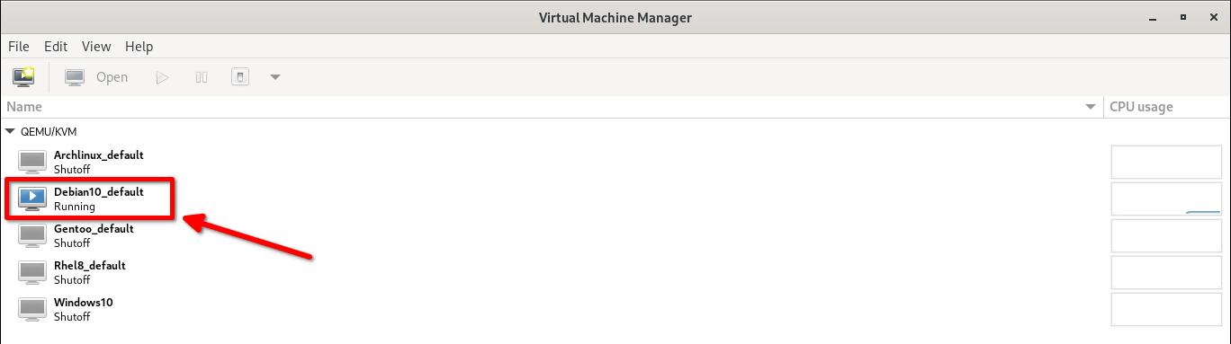Debian vagrant box running in Virt-manager