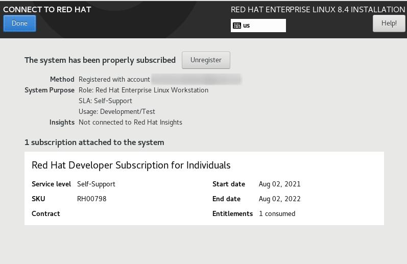 Red Hat developer subscription details for individuals