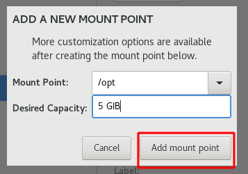 Add new mount point
