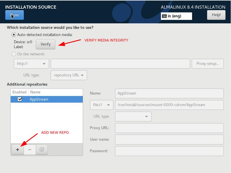 Configure installation source