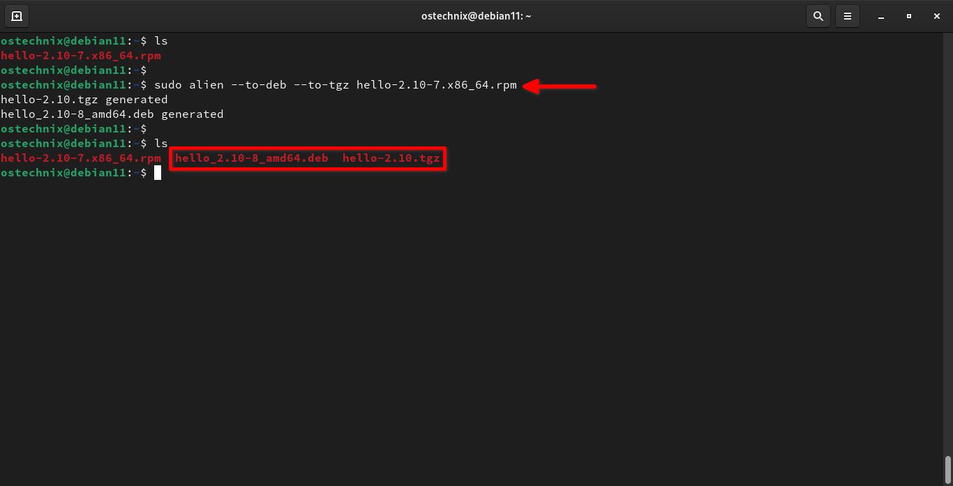 Convierta un solo paquete a múltiples formatos de paquete