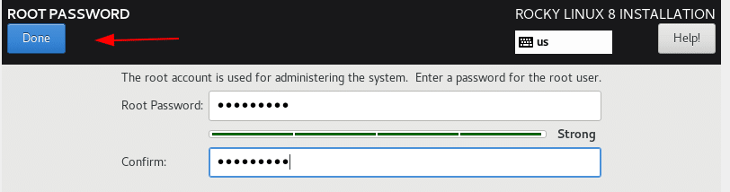 Set root user password