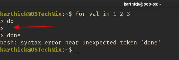 Error de sintaxis